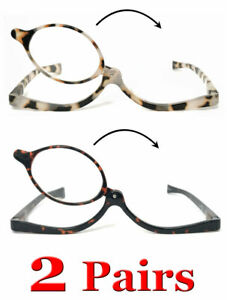 1 or 2 Pairs Womens Colorful Make Up Reader Make Up Reading Glasses