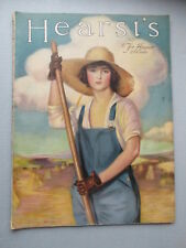 HEARST'S MAGAZINE August 1918  great cover ads VINTAGE