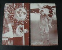 Lot of 2 Vintage 1920s Arcade Exhibit Cards Charles Lindbergh
