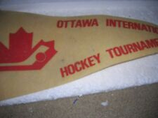 VINTAGE 1980'S PENNANTS PINBACKS  YOUTH HOCKEY USA CANADA STERLING HEIGHTS
