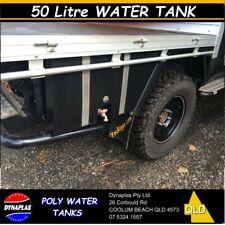 BLACK 50 Litre UTE WATER TANK 4wd 4x4 CAMPER TRAILER TAP DRINKING FOOD GRADE