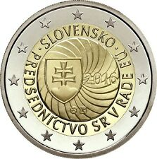 ESLOVAQUIA 2 EUROS 2016 CONM. PRESIDENCIA DE LA UNION EUROPEA