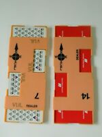 Lot of 2 Airline Playing Card Deck Delta United with Dealer Holder
