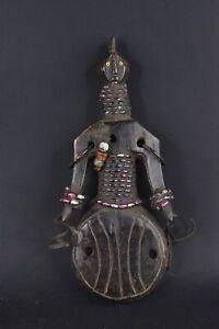 Statue fétiche de fertilité africain namji du Cameroun E020
