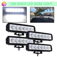 4x 6Inch 30W Led Work Light For Offroad ATV Fog Truck Flood Beam Lamp 4WD 12V