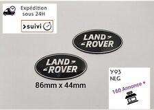 2X Logo Noir Land Rover Badge Emblème Avant Arrière 86 mm X 44mm