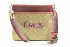 Coach F72896 SVOT4 Light Khaki Multi Signature Leather with Coach Print File ...