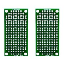 2 Pack Double Sided High Quality PCB Proto Perf Board with Solder Mask 2