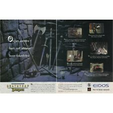 Deathtrap Dungeon PlayStation PS1 video game two-page magazine print ad