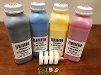 4 Toner Refill for Konica Minolta Bizhub C35, C35P + 4 Chip (TNP22) (C35 ONLY) !