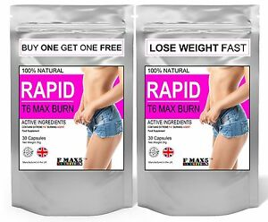 60 T6 MAX BURN SLIMMING WEIGHT LOSS FAT BURNERS VERY STRONG DIET PILLS TABLETS