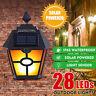 Waterproof 28 LED Solar Power PIR Motion Sensor Wall Light Outdoor Garden Lamp