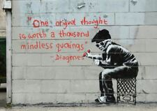 BANKSY ONE ORIGINAL THOUGHT A3 ART PRINT POSTER YF5051