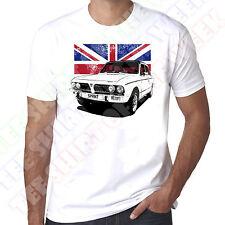 Triumph Dolomite Sprint Union Jack Mens personalisable 100% Cotton White T-shirt