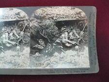 Stereoview Keystone View Company WWI German Dead In The La Basse Area Trench (O)