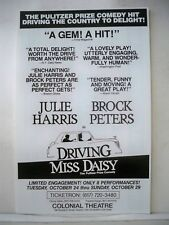 DRIVING MISS DAISY Herald JULIE HARRIS / BROCK PETERS Tour BOSTON 1989
