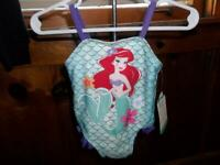 DISNEY LITTLE MERMAID ONE PIECE SWIMSUIT 3-6 MONTHS NEW WITH TAGS