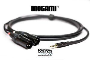Y Audio Cable Quad Mogami 2534   Jack TRS Gold 3.5mm - Neutrik XLR Male