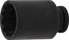 BGS! Kraft-Steckschlüssel-Einsatz Zwölfkant | Antrieb Innenvierkant 12,5 mm