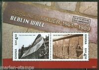 GHANA  2014  25th ANN OF THE FALL OF THE BERLIN WALL SOUVENIR SHEET II MINT NH