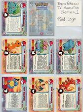 Complete Topps Pokemon Series 1 - Set of 90 New Red Logo cards  -  TV Animation!