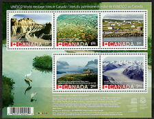 CANADA #2857 UNESCO WORLD HERITAGE SITES REPRINT SOUVENIR SHEET MNH