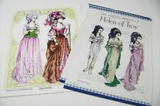 Vtg Paper Dolls 2003 Oonvention & Helen Of Troy Magazine Pages by Ralph Hodgdon