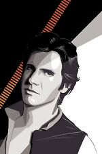 Screen Printed Poster - Star Wars 'Han Solo' - by Craig Drake