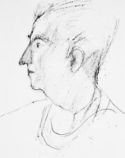 Guy Bardone-Dessin original-Portrait de René Genis