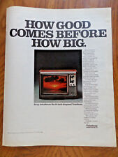 1972 Sony TV Television Ad  Trinitron How good Comes Before How Big