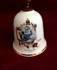 Norman Rockwell collectible bell- Triple Self Portrait -1979 Danbury Mint