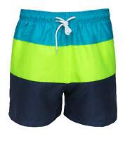 Costume da bagno uomo fantasia tricolore blu giallo celeste pantaloncino mare
