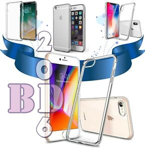 Clear Soft Case for Apple Iphone 12 (Pro), 11,XR/X/XS,6/7/8_Crystal Silicone Gel