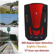 V7 16Band 360° Car Radar Laser Detector Traffic Alerts English Russian RED