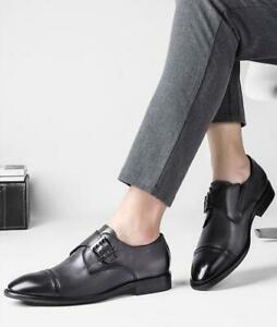 Men Stylish Wedding Dress Formal Shoes Business Work Shoes Patent Leather Buckle