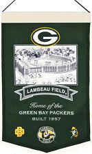 Green Bay Packers Lambeau Field Stadium Banner Wool