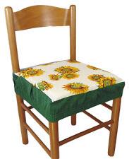 Due cuscini COPRISEDIA quadrato con elastico 2 pezzi girasole verde