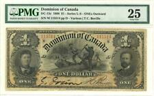 Canada $1 Dollar Dominion Currency Banknote 1898 PMG 25 VF