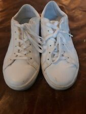 LACOSTE SNEAKER SIZE 6.5 WHITE ALIGATOR Logo TENNIS WOMENS USED LEATHER