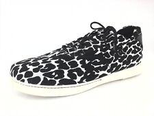 STUART WEITZMAN Sneakers SW Black White Leopard Shoes Women's US 9 EU 39 $398