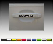 SUBARU Premium Maniglia Dello Sportello Decalcomanie Adesivi x2