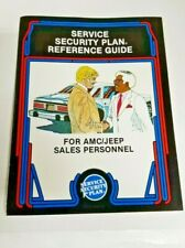 1982 AMC Jeep American Motors Service Security Plan Brochure Folder