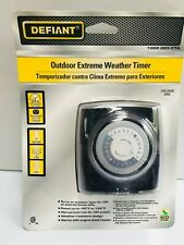 15 Amp 24-Hour Outdoor Plug-In Extreme Weather Mechanical Timer, Black #49813