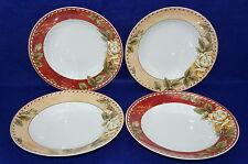 "Rosenthal Renaissance Allegra (4) Rimmed Soup Bowls, 9 1/4"""