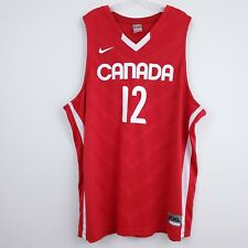 Authentic Nike Team CANADA Olympic Red Basketball Jersey #12 SIZE XXL