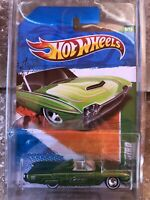 2011 Hot Wheels SUPER TREASURE HUNT USA card GREEN 63 T-BIRD Convertible