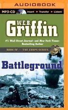 W E B Griffin BATTLEGROUND Unabridged MP3-CD 18.5 Hrs *NEW* FAST 1st Class Ship!