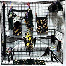 Batman * 15 PC open weave Sugar Glider Cage set *Rat * double layer Fleece