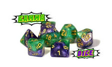 Gate Keeper Dice Halfsies Gamma Green & Purple Dice Set DnD RPG