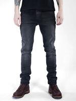 B-Ware Nudie Herren Slim Fit Stretch Jeans   Lean Dean Black Changes   W31 L34